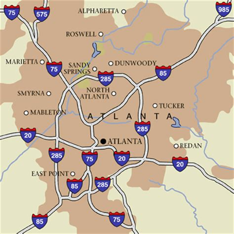 atlanta city usa map atlanta hotels and atlanta city guide