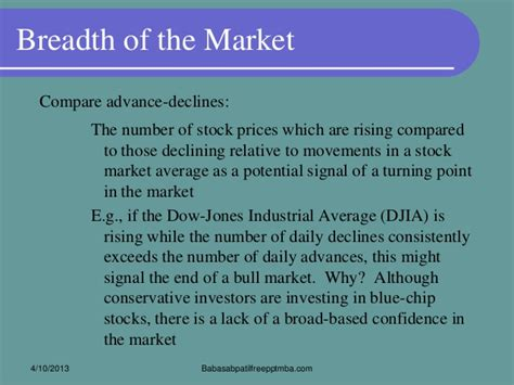 Blue Chip Mba by Technical Analysis Of Stock Market Presentation Of Mba 4