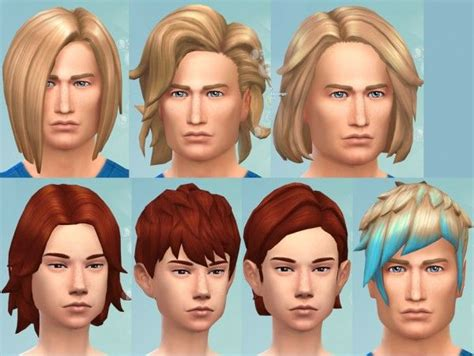 match hairstyles games the sims 4 gender converted base game hairs hairstyle by