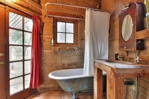 rustic small bathroom small rustic bathroom with weathered bathtub and brick