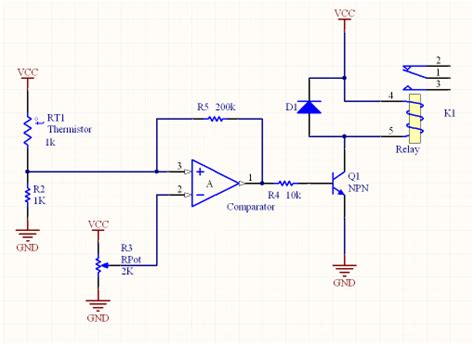 pull resistor comparator resistors compare resistance to a setpoint and trigger a relay electrical engineering stack