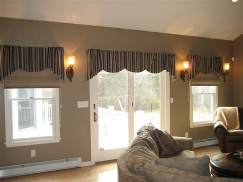 tailored valances for living room tailored valances traditional family room boston by windows by julie