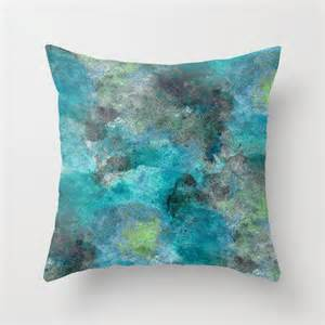 Turquoise And Grey Throw Pillows Throw Pillow Cover Teal Turquoise Lime Grey Modern Home