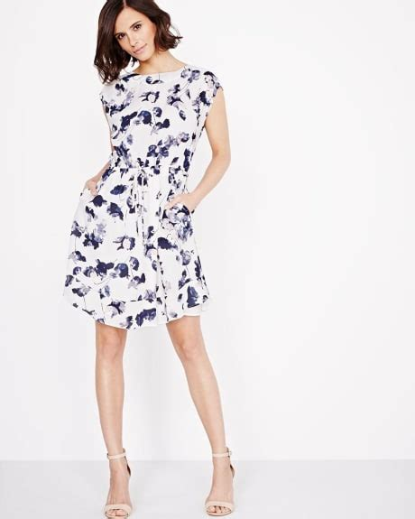 boat neck dress with frills women s clothing sales rw co