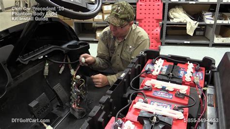 club car phantom light kit   install  golf cart