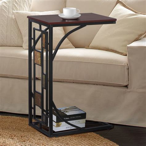 end sofa table new coffee tray side sofa table room console stand end tv snack drink ebay