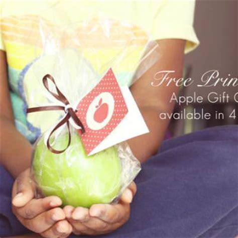 Printable Apple Gift Card - printable apple gift card for teacher s gift tip junkie