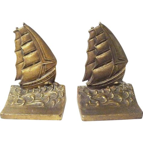 bradley hubbard l bradley hubbard art deco ship bookends sold on ruby lane