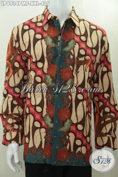 Kemeja Batik Parang Kombinasi K8088 hem batik klasik kombinasi tulis lengan panjang buatan
