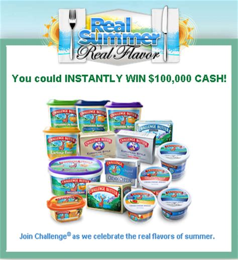 Instantly Win Cash - challenge dairy products win 100 000 cash instantly and a tons giveawayus com