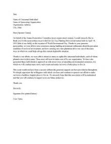 sponsor thank you letter best business template
