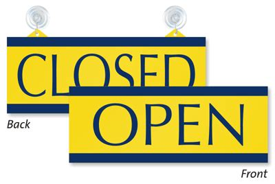 open and closed signs open closed door signs