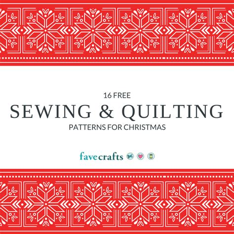 16 free sewing patterns for christmas favecrafts com