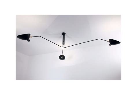 Serge Mouille 3 Arm Ceiling L by Ceiling L 3 Rotating Arms Serge Mouille Milia Shop