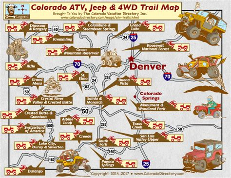 colorado atv jeeping 4wd trail maps co vacation directory