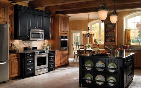black rustic kitchen cabinets by kraftmai kitchen designs