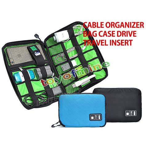 Electronics Accessories Portable Original Tas Kabel Usb Hdd electronic accessories cable usb drive organizer bag portable travel insert