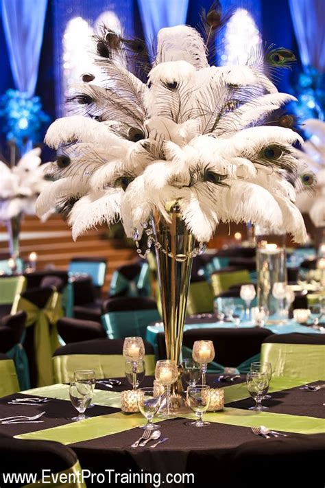 Ostrich Peacock Feather Theme Wedding Ideas By Event Pro