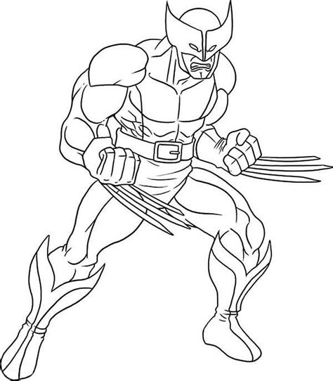 Wolverine Coloring Pages Free free coloring pages of negro wolverine