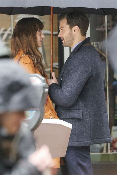 fifty shades darker start filming christian grey and anastasia steele are making out on the