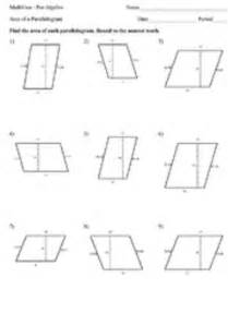 area of a parallelogram worksheets by mathvine teachers