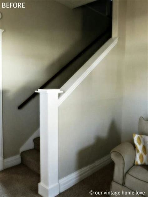 Replace Banister With Half Wall by How To On Closed Basement Staircase Into An Open Half Wall Doityourself Community
