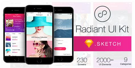 themeforest ui kit radiant ui kit 200 for sketch by wpbootstrap themeforest