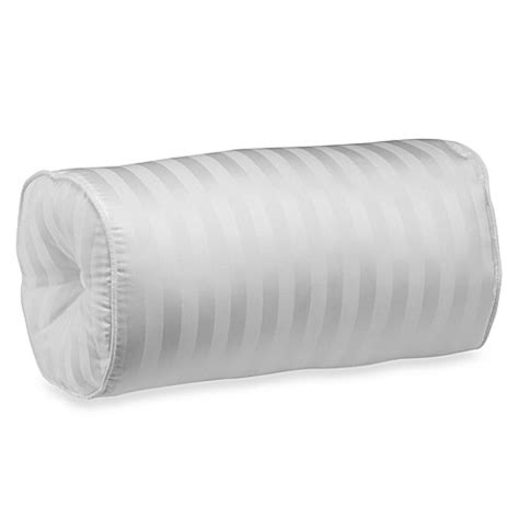 bolster bed pillow wamsutta 174 damask stripe bolster pillow in white bed bath