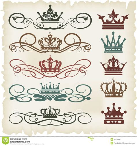 calligraphic vintage design elements vector set vector set calligraphic design elements stock image