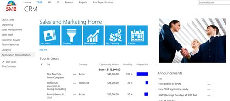 sharepoint department site template sharepoint market place quot turn key quot business applications