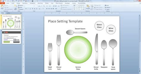 free place setting template for powerpoint free