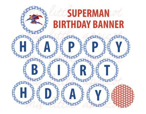 printable superman birthday banner superman printable birthday banner party printables