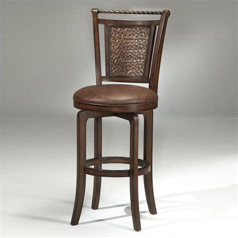 bar height bar stools swivel norwood 26 5 quot swivel bar stool in brown cherry and copper