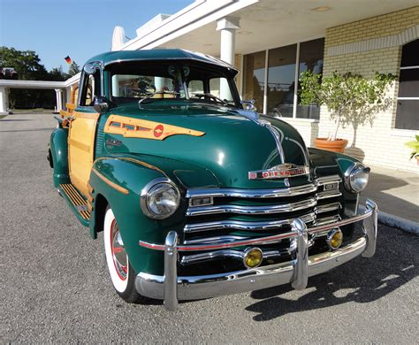 1950 chevrolet 3100 custom woody retro d wallpaper