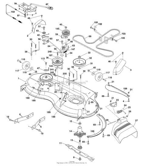 ariens parts diagrams ariens 936075 960460056 01 46 quot automatic tractor parts