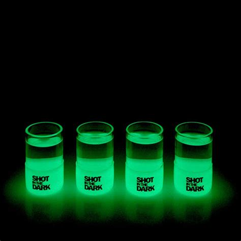 Shot in the Dark   Glow in the Dark Shot Glasses   The Green Head