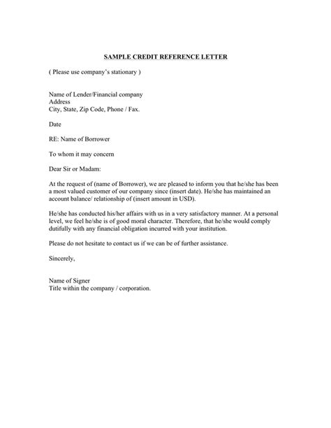 Bank Letter Of Financial Standing Sle Letter Of Standing From A Bank In Word And Pdf Formats Page 3 Of 3