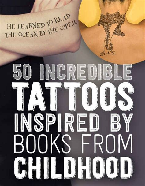 tattoos inspired by books 50 tattoos inspired by books from childhood