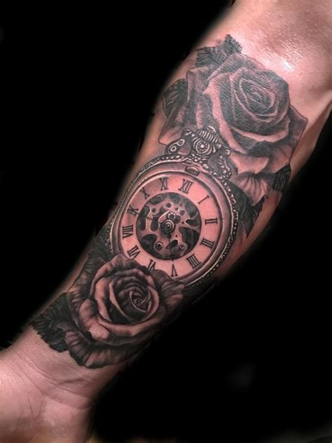 rose pocket watch by gabriel londis tattoos