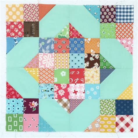 Crossroads Quilt Block by Bee In Bonnet Scrappy Crossroads Block Instagram
