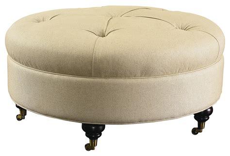 round ottomans furniture bassett hgtv home design studio 1000 ro round ottoman with