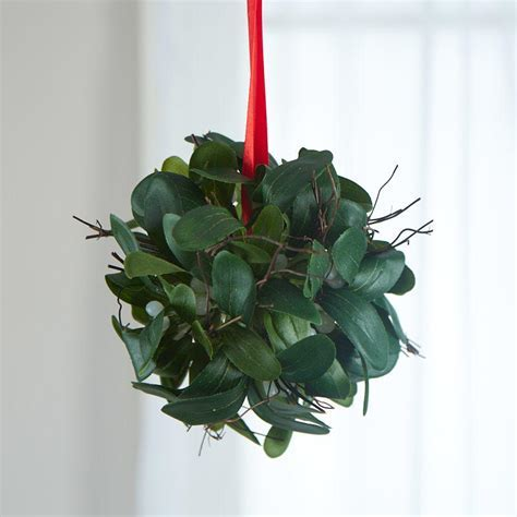 Hanging Artificial Mistletoe Kissing Ball Ornament