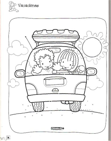 imagenes vacaciones preescolar pintando dibujos de quot felices vacaciones quot im 225 genes de