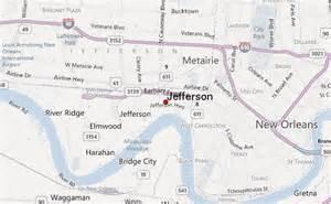 jefferson louisiana map jefferson louisiana location guide