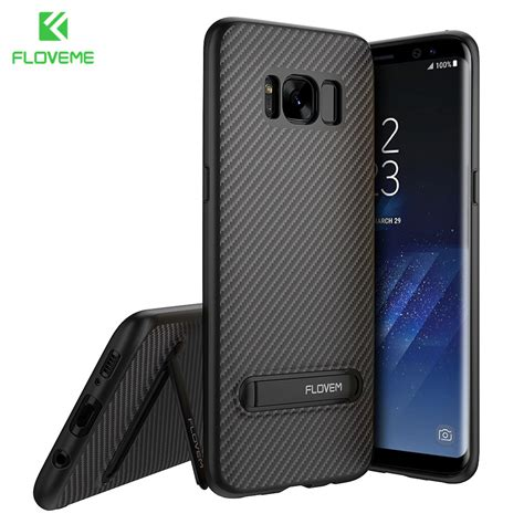 Samsung Galaxy S8 Luxury Armor Soft Back Casing Cover Ring Holder floveme luxury kickstand for samsung galaxy s8 cases carbon fiber silicone tpu pc back