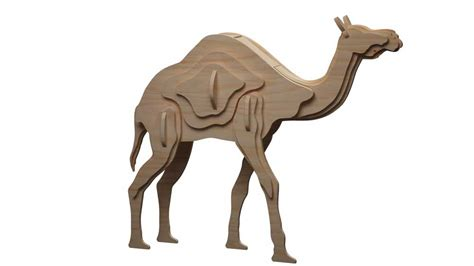How To Make A Camel Out Of Paper - the single hump camel makecnc