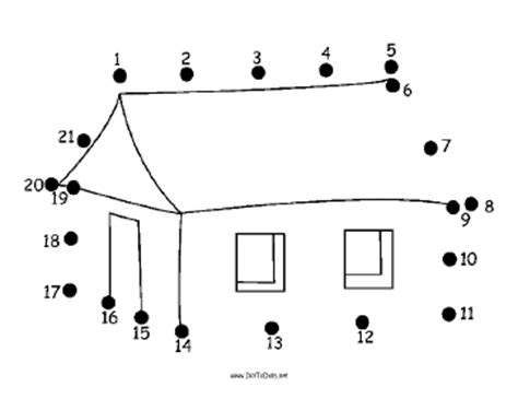 printable dot to dot house printable simple house dot to dot puzzle
