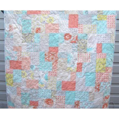 Handmade Quilts Australia - lovely or throw made from modern roses fabric by moda