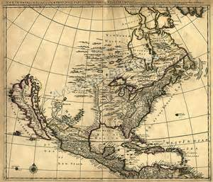 1685 historic map of early america 24x28 ebay