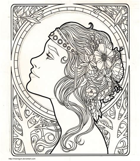 art nouveau coloring page wip art nouveau by mseregon aryclics oils and